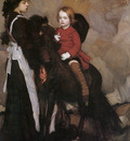 Lmabert Equestrian Portrait of a Boy