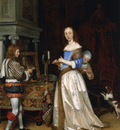 Borch A Lady at Her Toilet ca1660 oiloncanvas30x23the Detroi