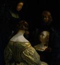 Borch II Gerard ter Woman at a Mirror
