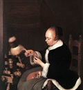 TERBORCH Gerard A Woman Spinning