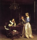 TERBORCH Gerard Woman Reading A Letter
