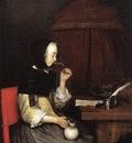 Woman Drinking Wine WGA