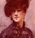 Boldini Giovanni La Femme Au Chapeau Noir