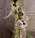 Boldini Giovanni Portrait of Madame Georges Hugo nee Pauleen Menard Dozian and Her Son Jean