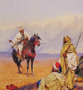 A Horseman Stopping At a Bedouin Camp