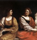 Guercino Allegory of Painting and Sculpture