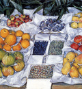 Caillebotte Gustave Fruit Displayed On A Stand