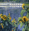 Caillebotte Gustave Sunflowers on the Banks of the Seine