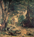 Courbet A Thicket of Deer at the Stream of Plaisir Fountaine