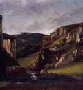 Courbet Gustave Cliffs near Ornans