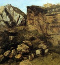 Courbet Gustave Crumbling Rocks