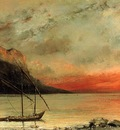 Courbet Gustave Sunset on Lake Leman