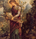 moreau thracian girl carrying the head of orpheus