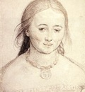 Holbien the Younger Head of a Woman