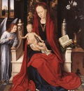 Memling Hans Virgin Enthroned with Child and Angel c1480