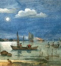 AVERCAMP Hendrick Fishermen By Moonlight