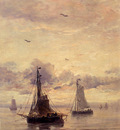 Mesdag Hendrik Willem Evening Anchorage