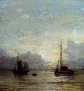 Mesdag Hendrik Willem Fishing Boats Near The Coast