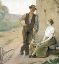tanoux henria drien peasant couple in farmyard