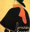 Toulouse Lautrec Henri de Aristede Bruand at His Cabaret