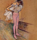 Toulouse Lautrec Henri de Dancer Adjusting Her Tights