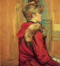 Toulouse Lautrec Henri de Girl in a Fur Mademoiselle Jeanne Fontaine