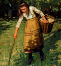 La Thangue Henry Herbert Gathering Wool