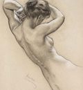Draper Herbert James Study of Florrie Bird for a water nymph in Prospero Summoning Nymphs and Deities
