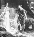 Draper Herbert James Tristan and Isolde steel engraving