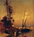 Corrodi Hermann David Salomon At The Waters Edge