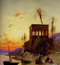 Corrodi Hermann David Salomon The Kiosk Of Trajan Philae On The Nile