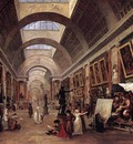 ROBERT Hubert Design For The Grande Galerie In The Louvre