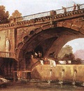 ROBERT Hubert Washerwomen Below A Bridge