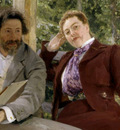 Repin Double Portrait of Natalia Nordmann and Ilya Repin