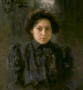 Repin Portrait of the artist s daughter Nadezhda