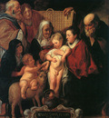 The Holy Family with St Anne The Young Baptist and his Parents CGF