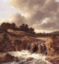 RUISDAEL Jacob Isaackszon van Landscape With Waterfall