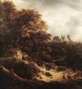 RUISDAEL Jacob Isaackszon van The Castle At Bentheim