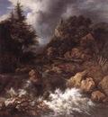 RUISDAEL Jacob Isaackszon van Waterfall In A Mountainous Northern Landscape