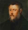 Tintoretto Portrait of a Man fragment