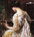 Beckwith James Carroll Woman with Guitar