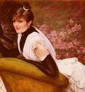 Tissot James Jaques Joseph Portrait De Femme A L Eventail