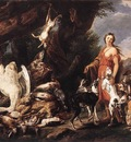 FYT Jan Diana With Her Hunting Dogs Beside Kill