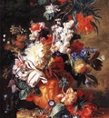 HUYSUM Jan Van Bouquet of Flowers in an Urn