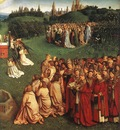 Eyck Jan van The Ghent Altarpiece Adoration of the Lamb detail right
