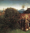 Eyck Jan van The Ghent Altarpiece Adoration of the Lamb detail top left