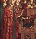 Eyck Jan van The Ghent Altarpiece Singing Angels