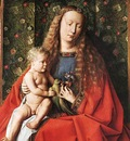 eyck jan van the madonna with canon van der paele detail