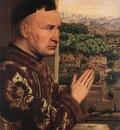 eyck jan van the virgin of chancellor rolin detail