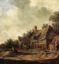 Goyen Jan van Peasant Huts with a Sweep Well
